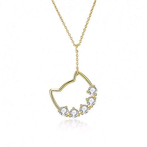Halskette Kette Armband Halskette Schmuck-Anhänger for Tierschmucksachen netten Katze-Anhänger-Halskette for Frauen-Mädchen-Geschenke reales Silber 925