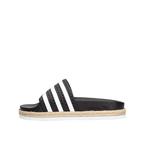 Adidas ciabatta adilette new bold w nero-bianco corda cq3093 (39 - nero)