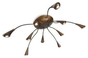 philips instyle deckenleuchte menotti mit 2 5w inklusive led leuchtmittel 10 flammig. Black Bedroom Furniture Sets. Home Design Ideas
