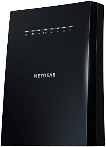 Netgear EX8000 Ripetitore WiFi Mesh, Copertura per 5-6 stanze e 25 dispositivi, Tri-band fino a 3000 Mbps, funzionalità Mesh con modem fibra e adsl