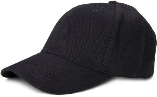 styleBREAKER klassisches 6 Panel Cap mit gebürsteter Oberfläche, Baseball Cap, verstellbar, Unisex 04023018, Schwarz, Einheitsgröße