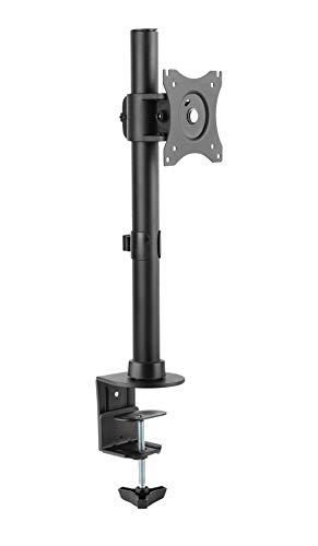 RICOO TS7011, Bildschirm-Halterung Schwenkbar Neigbar, 13-27 Zoll (33-69 cm) Monitor-Ständer, Schreibtisch Stand-Fuss, VESA 75x75 100x100, Schwarz