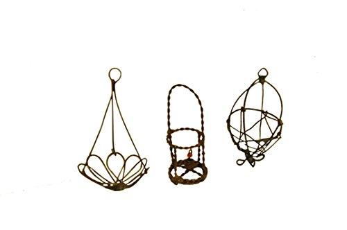 G & F 10026 Fairy Mini Garden Miniature Wire Accessory Set - Black (Anlage Fairy Garden)
