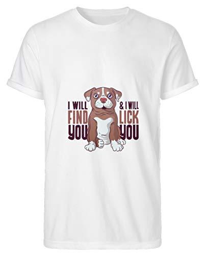 Hunde WELPEN T-Shirt Hund Dog Geschenk - T-Shirt Urban Basic -L-Blanc -