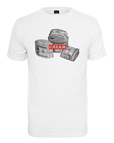 Mister Tee C.R.E.A.M Bundle Tee T-Shirt, White, S Cam Bundle