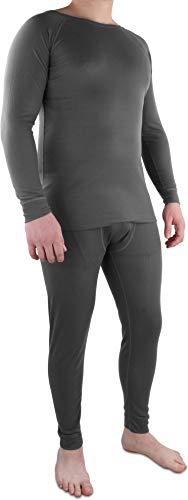 Herren Thermo-Unterwäsche mit Quick-Dry Funktionsfaser - EXTREM schnell trocken, wärmend und atmunsgaktiv Farbe Anthrazit Größe M/50