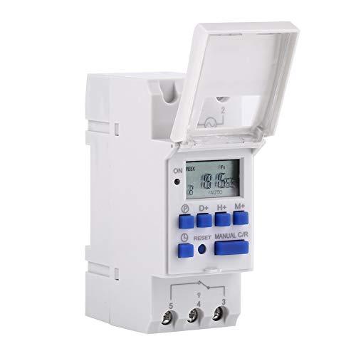 Digitale Zeitschaltuhr - Digitale Steckdose for Netz-Zeitrelais mit LCD-Display 7 Tage Elektronisch programmierbare Zeitschaltuhr for Relais 16 Ein / 8 Aus (Größe : 24V) -