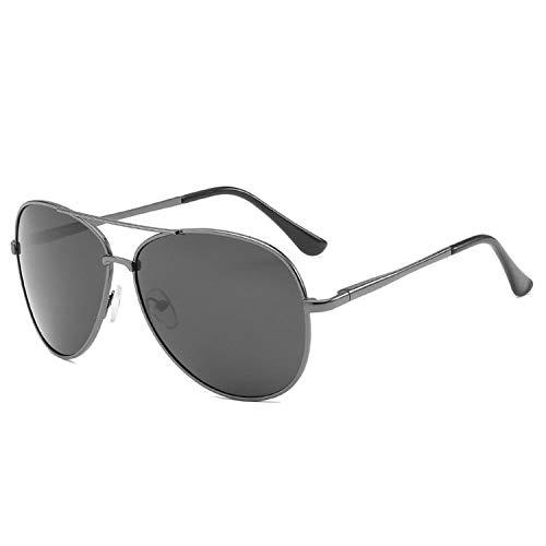boshangmao Sonnenbrille für Herren, polarisiertes Design, UV400, verspiegelt, modisch, Metall, Vintage-Sonnenbrille Gr. Einheitsgröße, Gun Grey