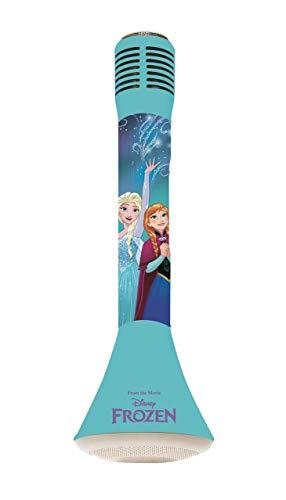 Lexibook MIC210FZ_50 Frozen 2 Die Eiskönigin ELSA Star Bluetooth mit Voice-Changer-Funktion, Mikrofon zum Singen, Eingebauter Licht Lautsprecher 3W, Micro SD-Kartensteckplatz, Blau/Violett
