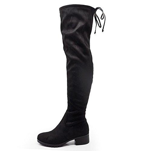 If Fashion Stivali da Donna Scamosciati Alti sopra Ginocchio G321 Tacco 3,5cm