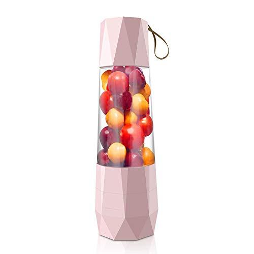 SUNLMG Tragbare Elektrische Entsafter Automatische Obst Und Gemüse Saft Tasse Nährstoffreichen Gesunden Obst Und Gemüse Saft Hohe Saft Rate Produkt Leicht Zu Reinigen,Pink
