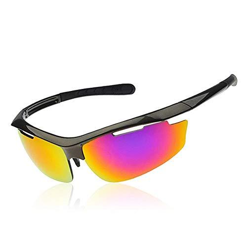 WDXGZY Neueste Mans Lady polarisierende Sonnenbrille Anti-Glare treibende Gläser Anti-UV-Retro-Sonnenbrille Wandern/Pilot/Outdoor Sport gesungen Lasses UV400