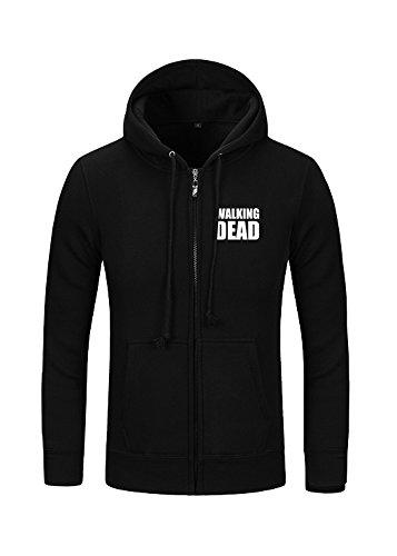 Walking Daryl Kostüm Dead (The Walking Dead Daryl Kapuzenjacke Dixon Flügel Hoodie Pullover Schwarz)