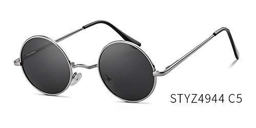 ZHAS High-End-Brille polarisierte runde Sonnenbrille Frauen randlose Sonnenbrille Brillen Brillen Männer Metallspiegel Objektiv personalisierte High-End-Sonnenbrille