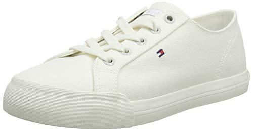 Tommy Hilfiger Damen Pastel Tommy Essential Sneaker, Weiß (Whisper White 121), 39 EU (Schuh Leder Slip-on Damen)