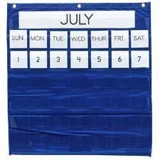 Pacon Corporation : Monthly Calendar Pocket Chart, 25