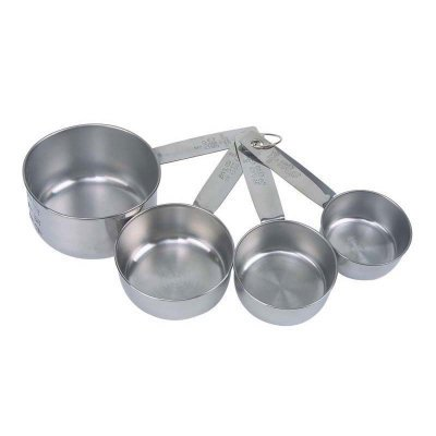 Faringdon Set of 4 Stainless Steel Measuring Cups, 60, 80, 125, 250ml