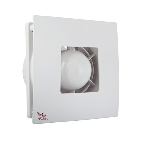 Bad-Lüfter Ø 100 Wand-Ventilator Abluft Weiss Silber Vents Atoll 100 TH Nachlauf (Timer) Feuchtesensor HAMMERPREIS - Badezimmer-ventilator-lichtschalter