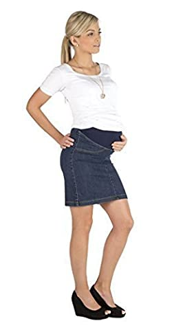 Umstandsrock Rock Jeansrock Jeans Knielang Umstand Stretch Schwanger Bauch jeans 36