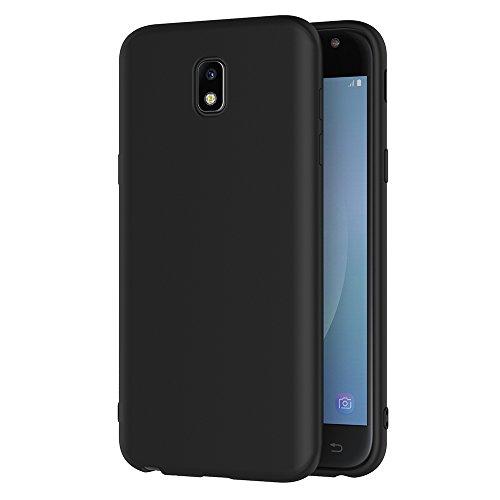 Coque Samsung Galaxy J3 2017, AICEK Noir Silicone Coque pour Samsung J3 2017 Housse Galaxy J3 2017 Noir Silicone Etui Case (5 Pouces SM-J330F)