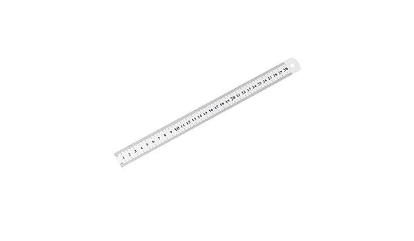 Edelstahl Metall Lineal 30 CM Gerade Lineal Messung Doppelseitig f/ür N/ähen Fu/ß N/ähen /& Schule Schreibwaren