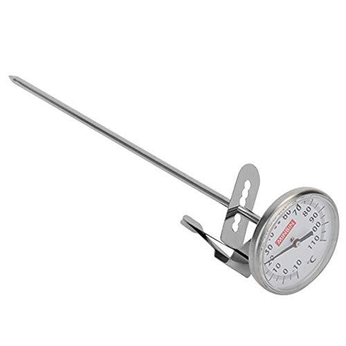 czos88 Thermometer mit Clip Lebensmittel Milch Schäumend Küchen Werkzeuge Heim Verwendung Kochen Metall Lang Sonde Temperatur Kontrolle Großes Zifferblatt S - Wie Abgebildet Show, Large -