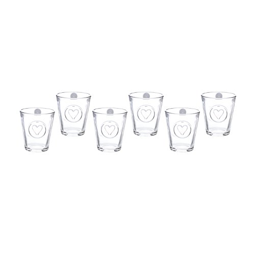 Set bicchieri per bibita in vetro, 6 pezzi