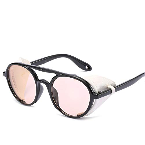 FIRM-CASE Männer Frauen Steampunk Schutzbrille-Sonnenbrille Retro Schatten Vintage-Brillen, 2