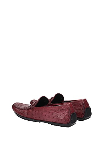 A30019A8G3980308 Dolce&Gabbana Mocassins Homme Cuir Rouge Rouge