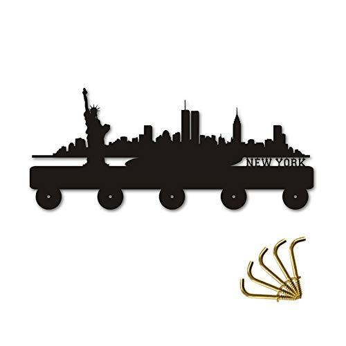 ANMY New York Skyline Silihouette Ropa Madera Sombrero