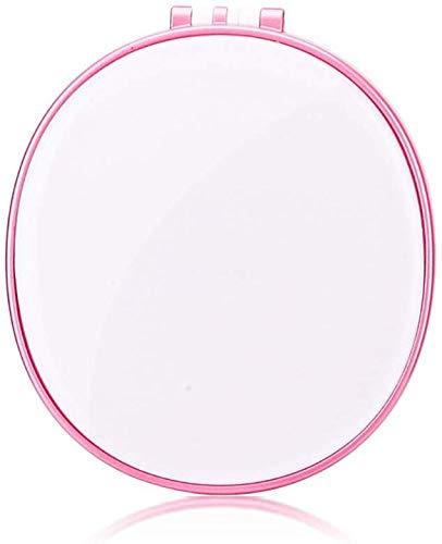 YIMING Kalt Dampfer Spiegel, Mobile Stromversorgung/Reiseschminkspiegel/Handheld-Klappspiegel (Mit LED-Make-Up-Spiegel) Gesichtshidratation Spray,Lila