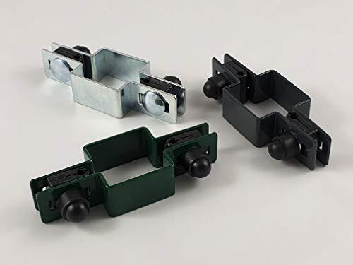 Juego de 3 abrazaderas centrales cuadradas (40 x 40 mm, 50 x 50 mm, 60 x 60 mm, 80 x 80 mm)