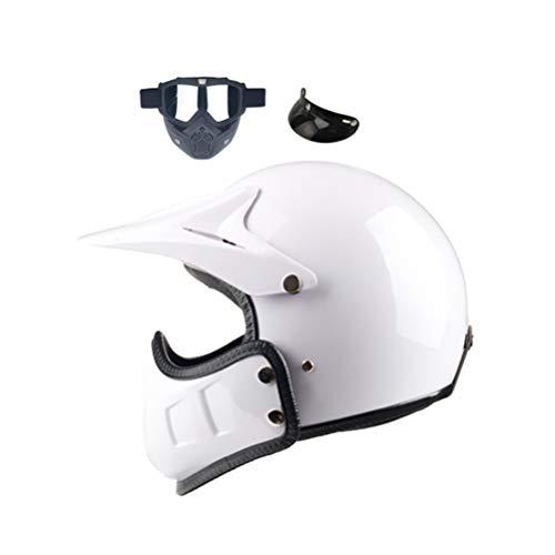 Retro aperto faccia casco di motocross Cafe Racer completo faccia moto modulare casco uomini donne universale Harley casco della motociclett