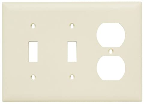 Pass & Seymour TP28LACC12 Combination Opening Nylon Wall Plate, Two