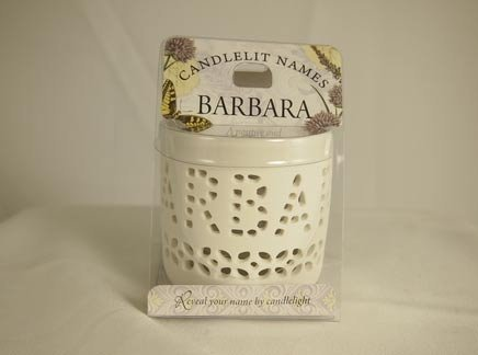 History & Heraldry Candlelit Names - Barbara - Tea Light Lite Candle 001850033-HH by History & Heraldry
