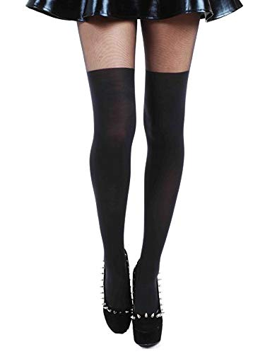 PAMELA MANN Strumpfhose PLAIN OVER THE KNEE blickdicht in Schwarz - One Size (Mix-outfits Little)