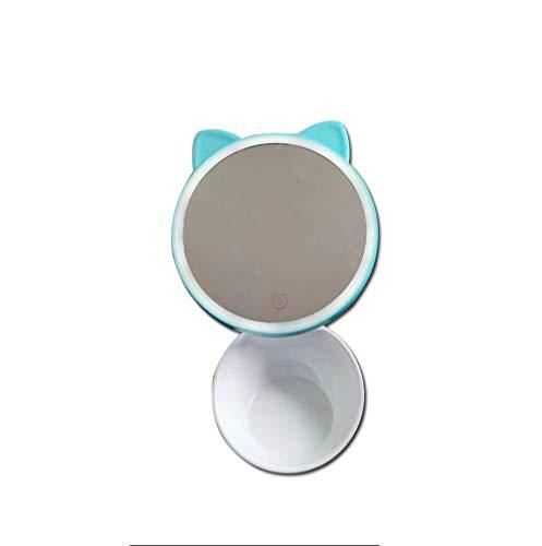 Miroir de maquillage XIAHE Lampe De Table Modélisation Créative Bureau avec Miroir De Stockage Miroir Pliant Multifonctionnel