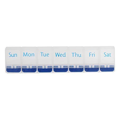Fenteer 7 Tage Tablettenbox Tag Nicht teilbar Pillen Tabletten Box Schachtel Tablettendose Pillendose Pillenbox Tablettenboxen Pillendosen Pillen Dose
