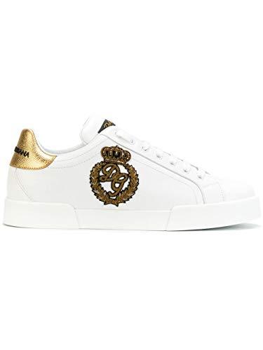 DOLCE E GABBANA Herren Cs1538ah1368i047 Weiss Leder Sneakers