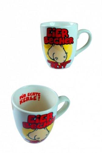 Preisvergleich Produktbild ST Rubber Tasse mit Slogan 'Eier-Becher'