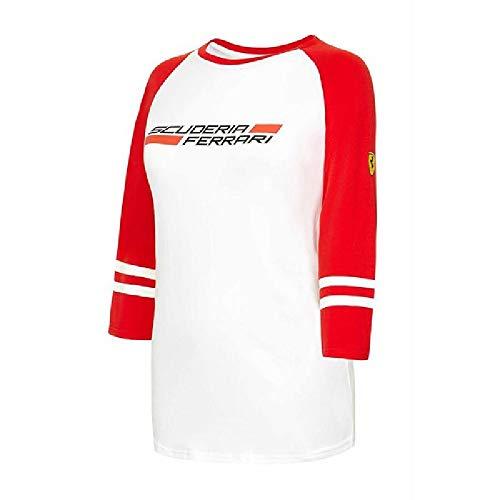 Ferrari Damen Rot 3/4Sleeve Tee Shirt (Klein) -