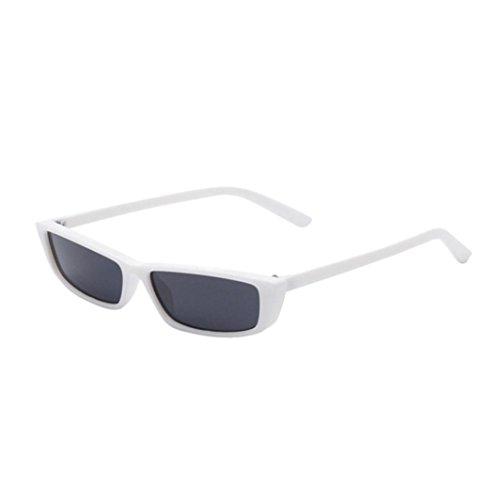Gaddrt Frauen Retro Fashion Rechteck Shades Sonnenbrille integrierter UV-Brille, D