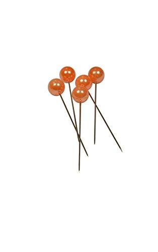 Corderie italiane - Deko-Nadeln, Durchmesser: 6x 65mm, 100Stück, Farbe: Orange.
