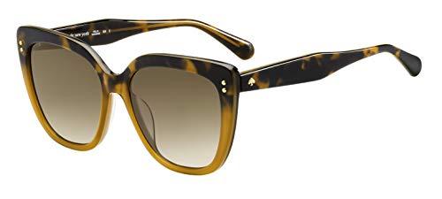 Kate Spade KIYANNA/S 086 Dark Havana KIYANNA/S Square Sunglasses Lens Category 2 Size 55mm