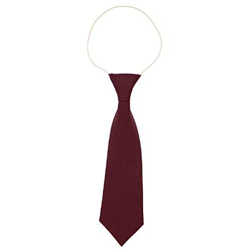Cravate d'école élastique - Convient pour l'école maternelle/primaire - Rouge - taille unique