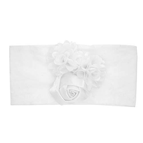 JJJ Stirnbänder für Babys, Stirnbänder für Kleinkinder Mädchen mit sehr weichem Stretch Nylon Rose Blumenzubehör Für die meisten Babys vom Neugeborenen bis zum Kleinkind (2 Stück),D Nylon-stretch-hut