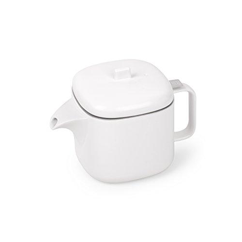 UMBRA Cutea Teapot. Théière Cutea avec Infuseur intégré. Céramique blanche. Dimension 19 x 12 x 13 cm