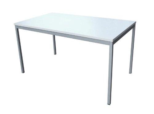 Schreibtisch (Stahl) LxB: 120x80 cm, lichtgrau, Marke: Szagato (Arbeitstisch, Computertisch, Bürotisch, Druckertisch)