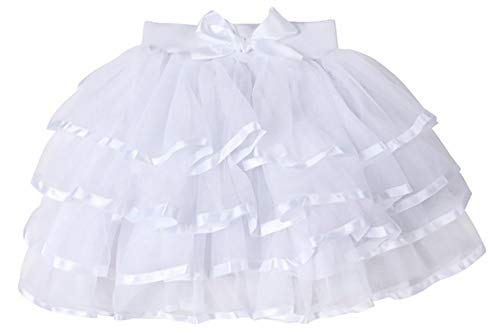 dchen Geschichteten Tüllrock Kleinkind Dress Up Tutu mit irremovable Bogen ()