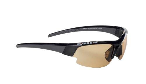 Sportbrille / Sonnenbrille Gardosa Evolution S - Black Matt - Gun Metal / Photocromic Orange Smoke - Clear hydrophobic